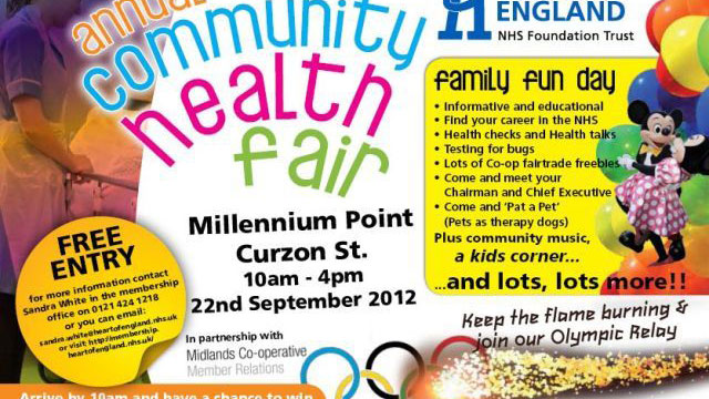 Annual Community Health Fair to be held at Millennium Point